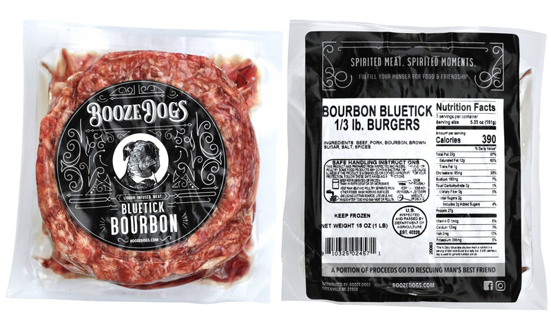 Booze Dogs - Boozy Burgers 4lb Variety Pack - TheBite.Life