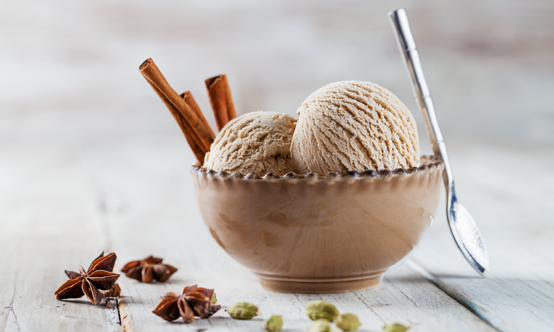 Chai Latte Ice Cream Scoop