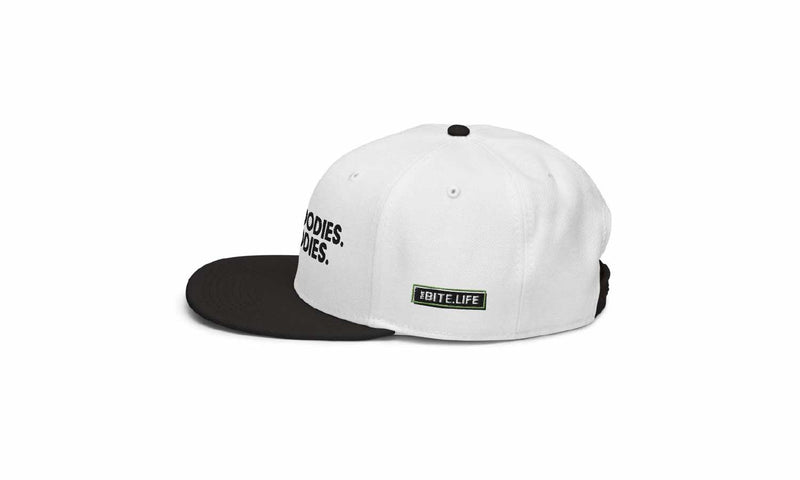 TheBite.Life - For Foodies Snapback Hat - White - TheBite.Life