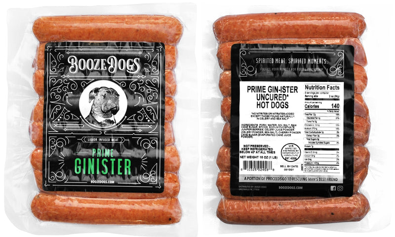 Booze Dogs - Gin Hotdogs 6lb Pack - TheBite.Life