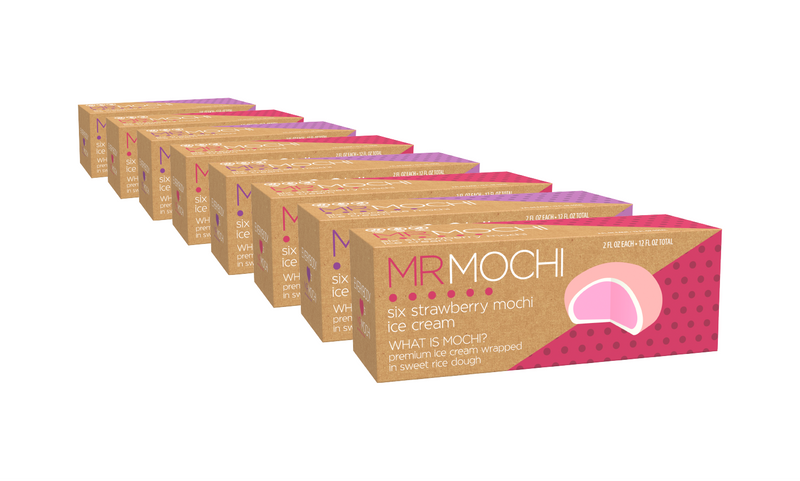 Mr. Mochi - Strawberries & Chocolate 48 Mochi Pack - TheBite.Life
