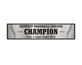 TrophySmack 3 Column Baseball / Fantasy Baseball League Plate
