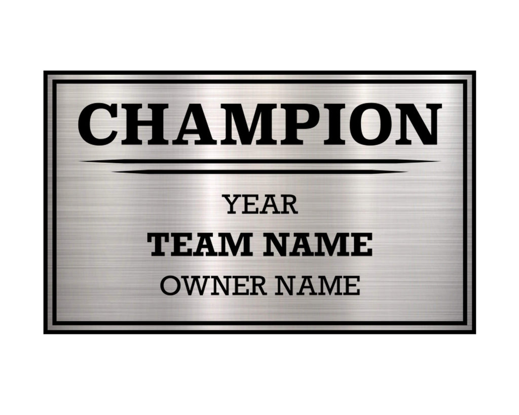 TrophySmack 3 Column Single Winner League Plate