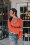 Kaylee Coral Sweater