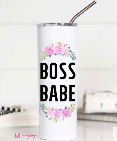 Tall Travel Mug - Boss Babe