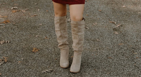 Here to Slay Boots- Taupe