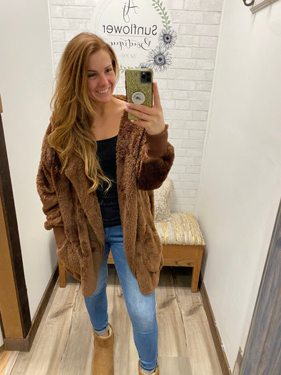 Chilly Day Fur Jacket- Plus Size