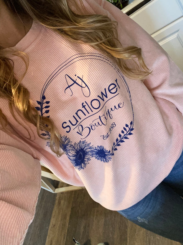 AJ Sunflower Boutique Pink Sweatshirt