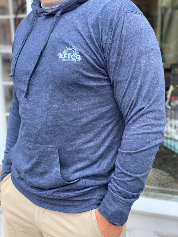 AFTCO Navy Pullover