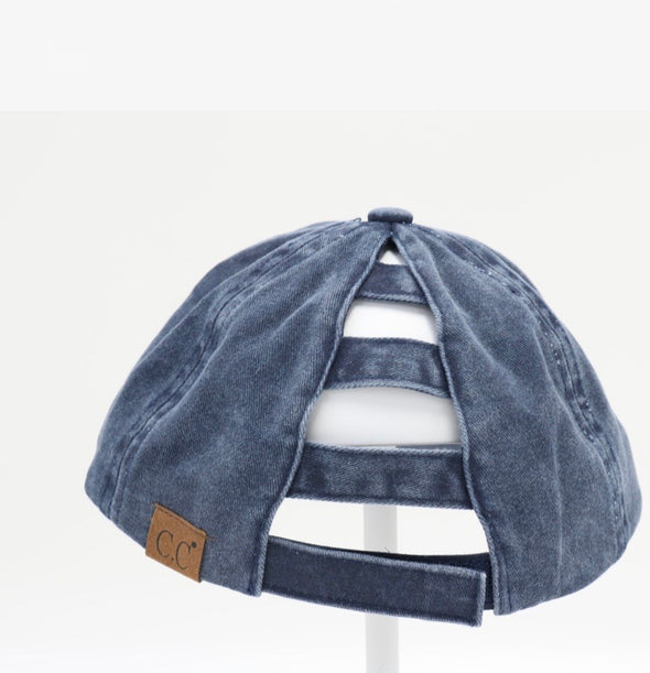 Ladder Back  Ponytail Hat