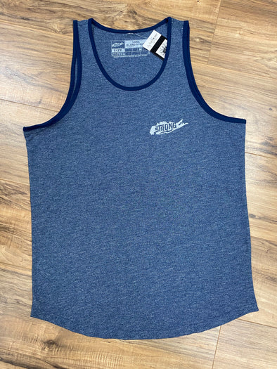 Island strong blue tank