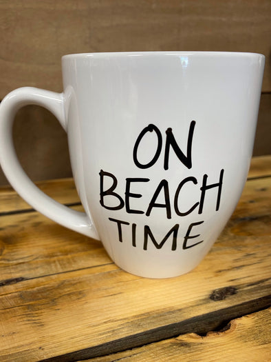 On Beach Time Mug