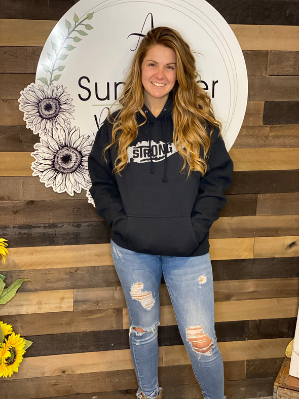 Island strong Navy Hoodie