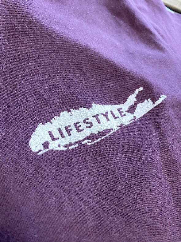 LI LIFESTYLE Bass Tee Burgundy