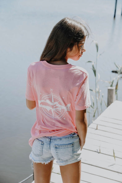 LI Lifestyle Youth Tee-Neon Pink
