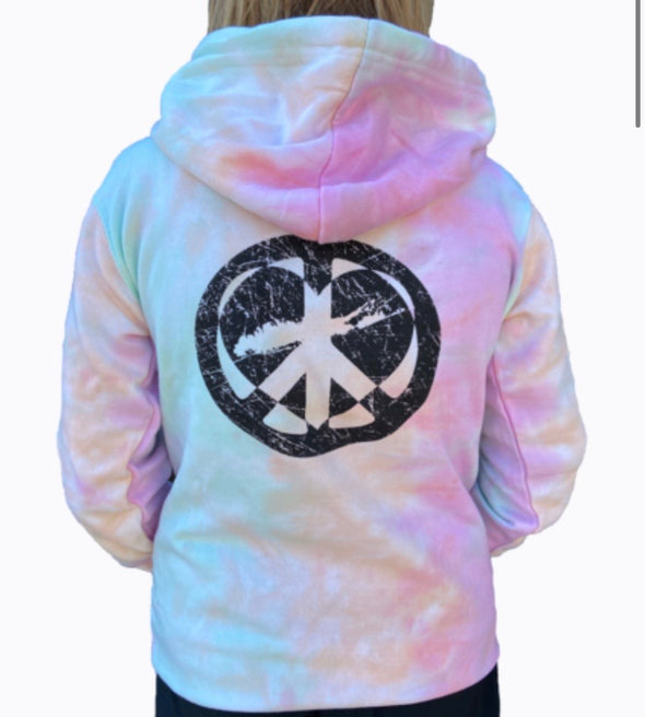 Island Strong Tie Dye Peace Sign