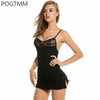 Short Mini Lace Night Dress Lingerie Sexy Erotic Hot Underwear Set Women Baby Doll Porn Chemise Female Sex Costume Black Red L3