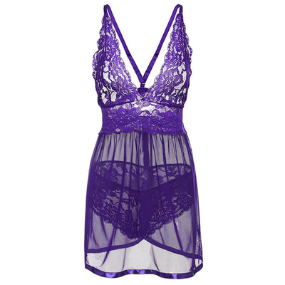 Baby Doll Sexy Lingerie Transparent Lace Sleepwear