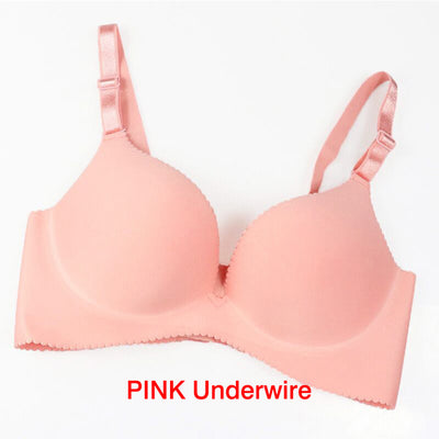 Women Super Push Up Seamless underwire Bra Gather Adjustable Girls soid Lingerie Bra 6 Color Cup Strappy Women's Bras underwear