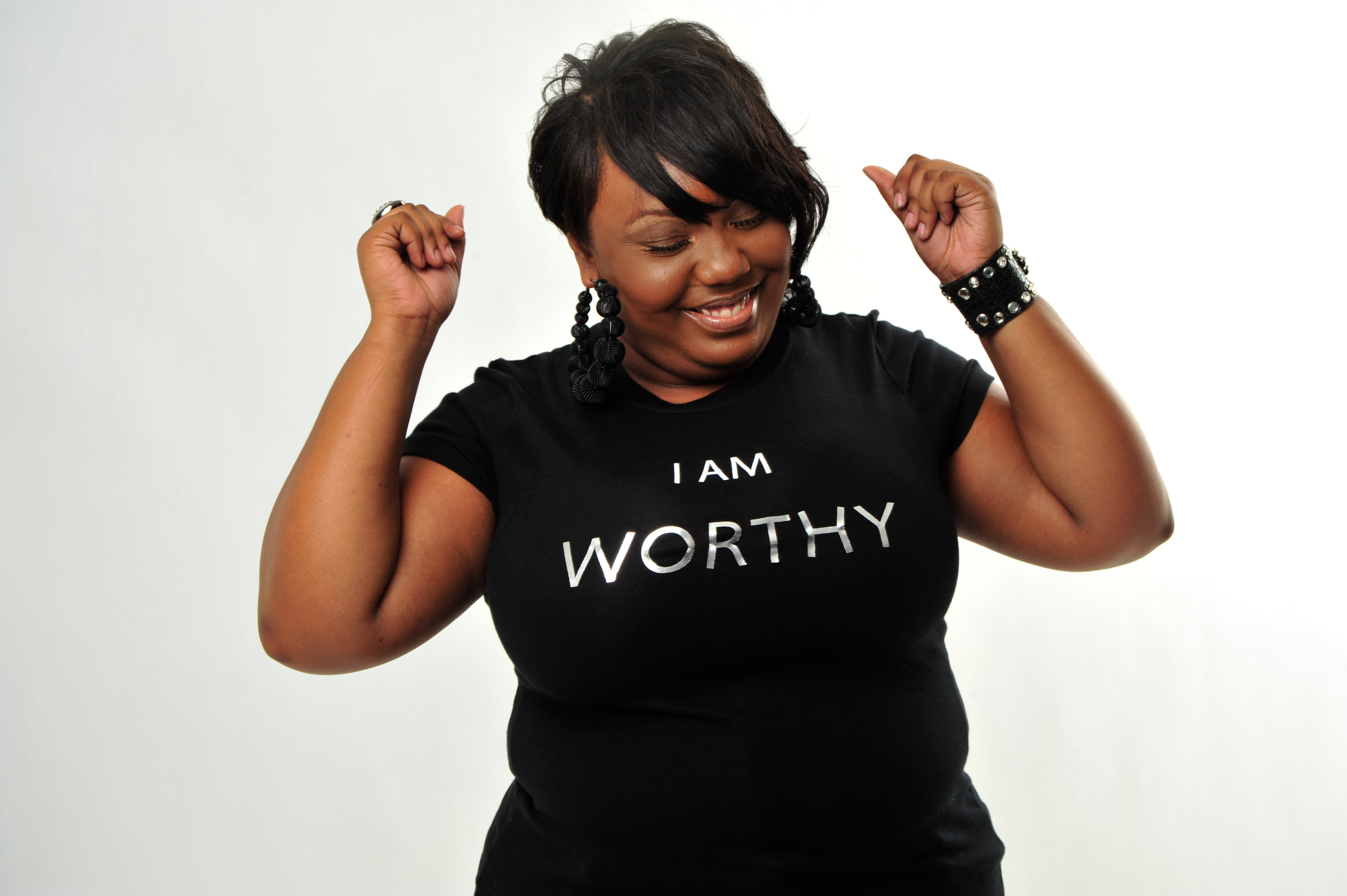 I AM Worthy Baby Doll Tee