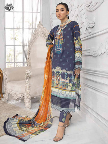 LUXURY DIGITAL EMBROIDERED NECKLINE WITH BAMBER CHIFFON EMBROIDERED BORING  DUPATTA RP2101A1