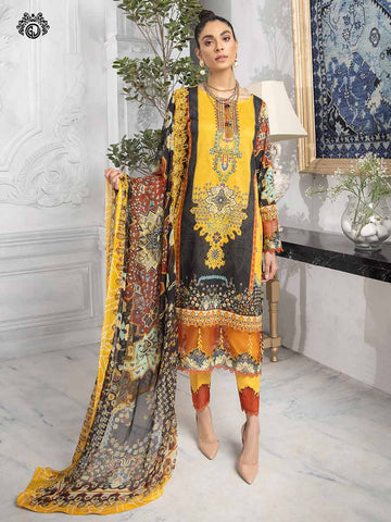 LUXURY DIGITAL EMBROIDERED NECKLINE WITH BAMBER CHIFFON EMBROIDERED BORING  DUPATTA RP2102A4