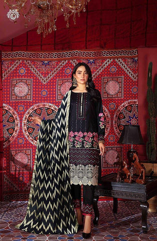 BRUNET BLACK SHIRT TROUSER & DUPATTA MH2101A6