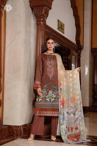 Copy of GLAM ALLURE Digital Printed Cambric Cotton Embroidered MHJ024A5 - GullJee