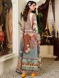 Luxury Digital Printed Banarsi Brosha Embroidered Lawn With Digital Crinkle Chiffon Dupata GZG2102A5