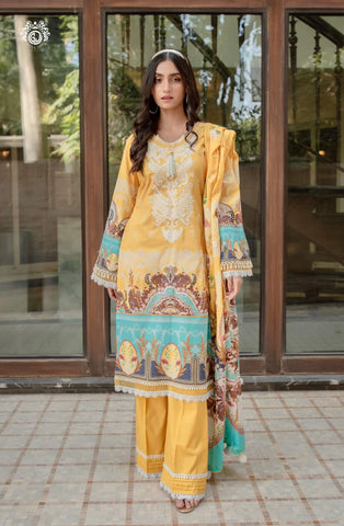 SUNNY DAYS Digital Printed Cambric Cotton Embroidered MHJ024A2