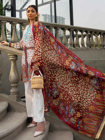 Luxury Digital Embroidered Daman With Exclusive Silk Dupata GR2101A8