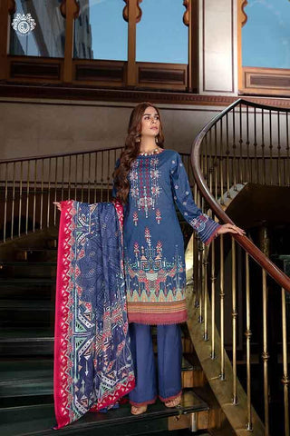 Copy of PINE GARDEN Digital Printed Cambric Cotton Embroidered MHJ024A8 - GullJee