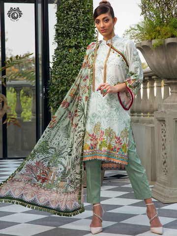 Luxury Digital Embroidered Daman With Exclusive Silk Dupata GR2101A12