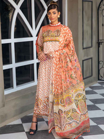 Luxury Digital Embroidered Daman With Exclusive Silk Dupata GR2101A7