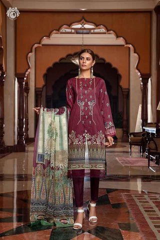 Copy of MAYFAIR Digital Printed Cambric Cotton Embroidered MHJ024A12 - GullJee