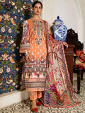 Luxury Digital Printed Banarsi Brosha Embroidered Lawn With Digital Crinkle Chiffon Dupata GZG2102A10