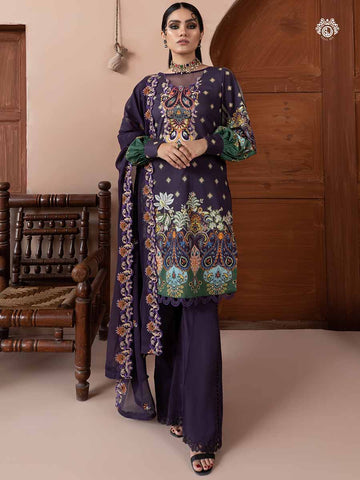 EILEEN PRINTED CAMBRIC COTTON EMBROIDERED TH022A12