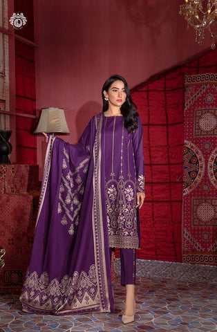 DAILY DEAL PURPLE SHIRT TROUSER & DUPATTA MH2101A12