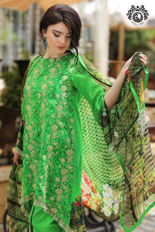 Mishaal 3 Pc stiched Suit D6 - GullJee