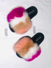 Load image into Gallery viewer, Sherbet Mix Fur Slides