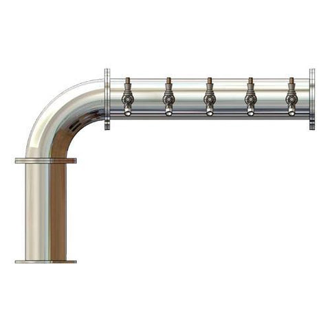 "Draught Beer > Towers > SS Modular 4"" Pipe Towers > Linx Towers > Linx 5-6 Taps"
