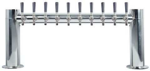 "Draught Beer > Towers > Classic Metro Towers > Two Pedestal ""H"" Towers > Metro ""H"" 10 Tap"
