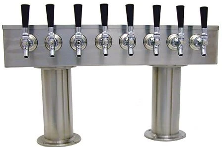 Draught Beer > Towers > Traditional American > Two Pedestal T Towers