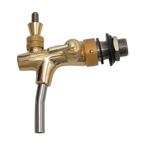 GOLD PLATED EURO FLOW CONTROL FAUCET