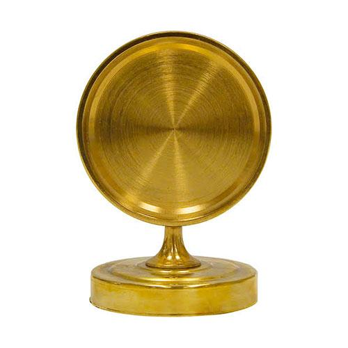 BRASS TOWER CAP MEDALLION HOLDER