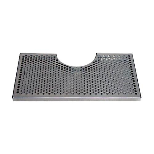 "18"" L x 9"" W - SS DRIP TRAY w/ 6 1/4"" CUT-OUT - NO DRAIN"