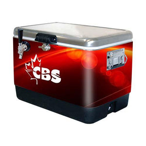 BRANDED 54qt SS COOLERS w/ 50' SS COIL