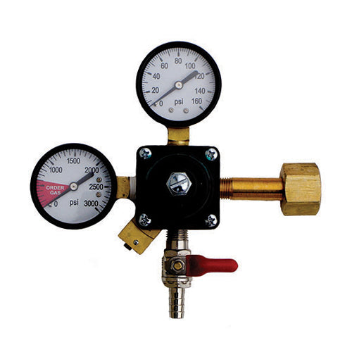 TAPRITE 160lbs CO2 PRIMARY REGULATOR w/SHUT-OFF