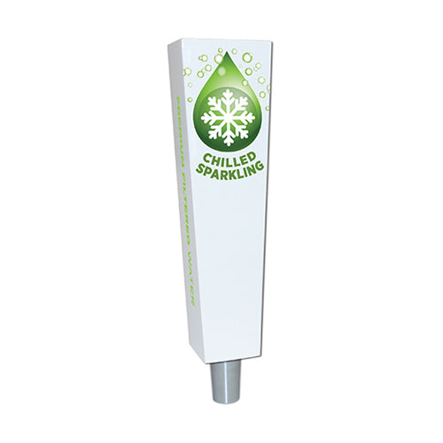 """CHILLED SPARKLING"" TRAP-Z WATER TAP HANDLES"