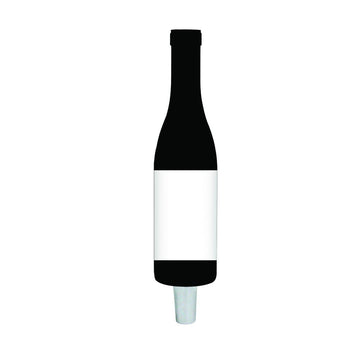 BLK - WHITE WINE BTL (CHR) TAP HANDLE